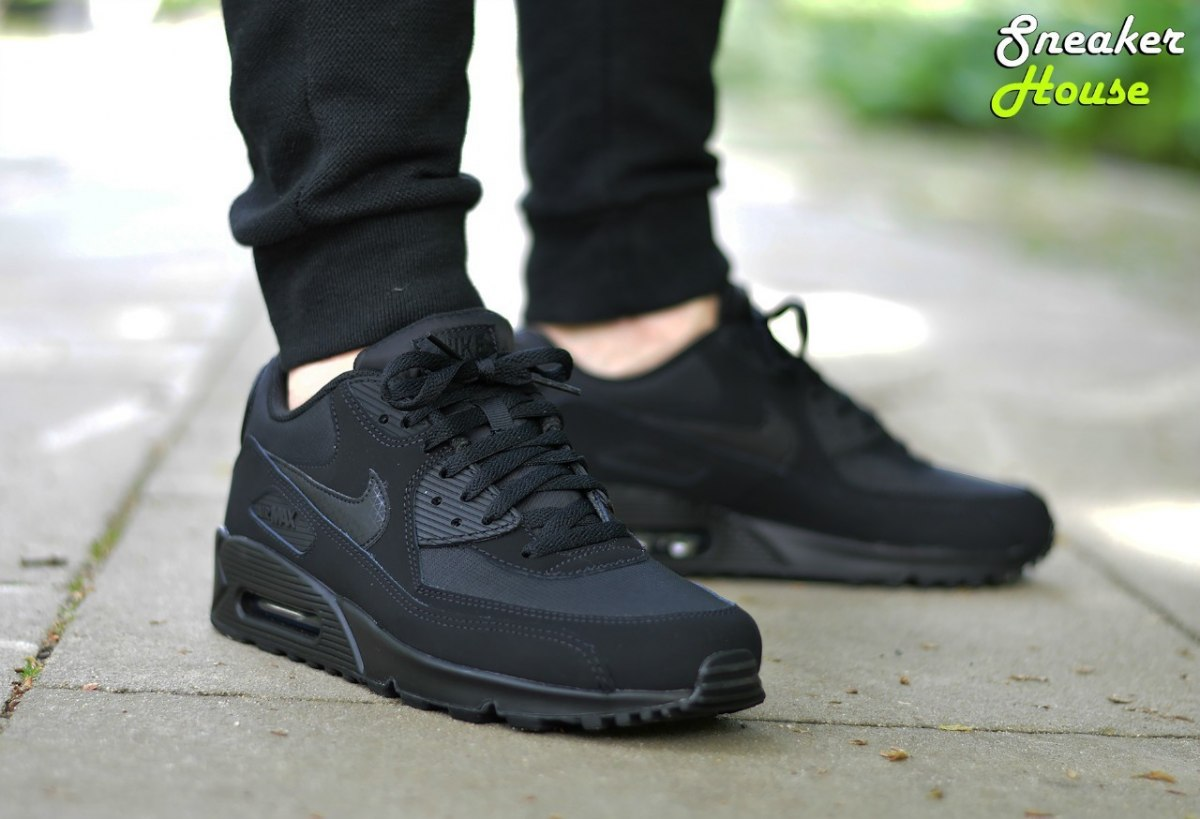 nike air max 90 essential sport grey white black